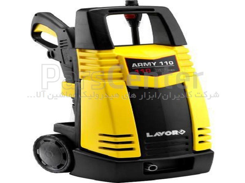 دستگاه واترجت تمیز کننده و رسوب زدایی فشار قوی جهت امور خانگی و صنعتی مدل ARMY-110 ساخت کمپانی لاور ایتالیا