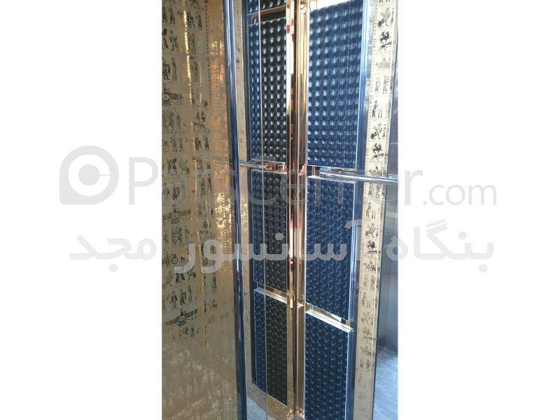 کابین آسانسور استیل طرح دار ( هخامنشی )
