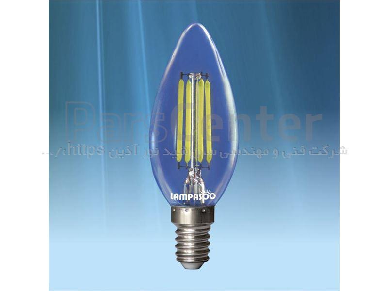 لامپ LED شمعی فیلامانی 4 وات - با خرید هر 10 عدد لامپ، 1 لامپ هدیه بگیرید.