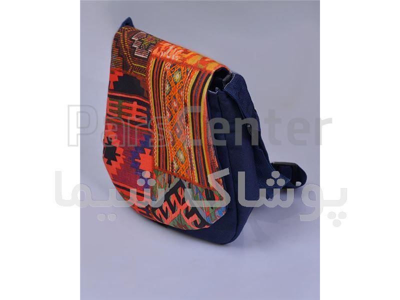 کیف پارچه ای تک بند طرح گلیم پوشاک شیما