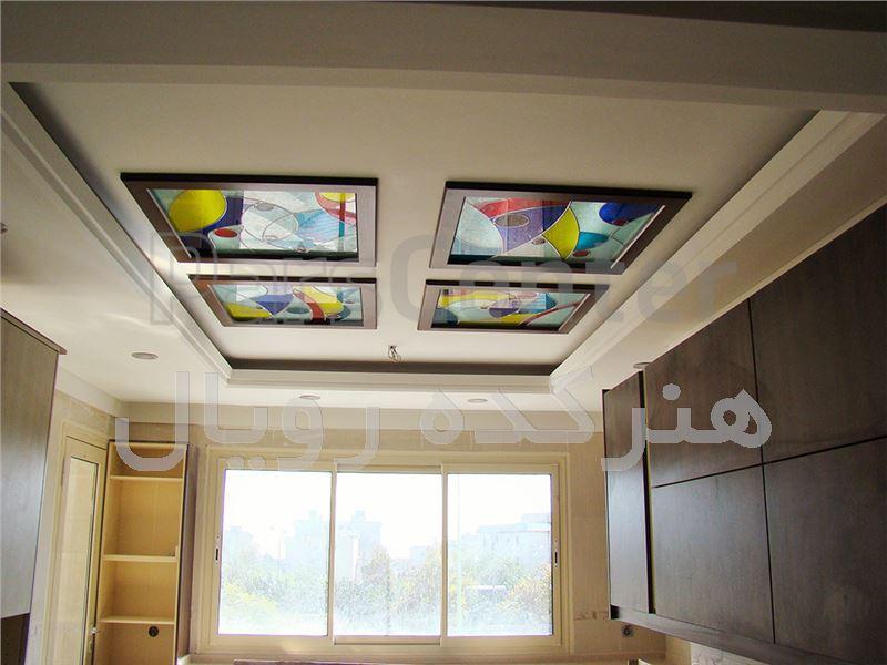 سقف کاذب شیشه ای در آشپزخانه و سرویس ، پروژه اختیاریه شمالی