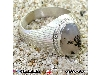 انگشتر عقیق شجری مردانه درشت شیاردار _کد:۱۲۰۳۳