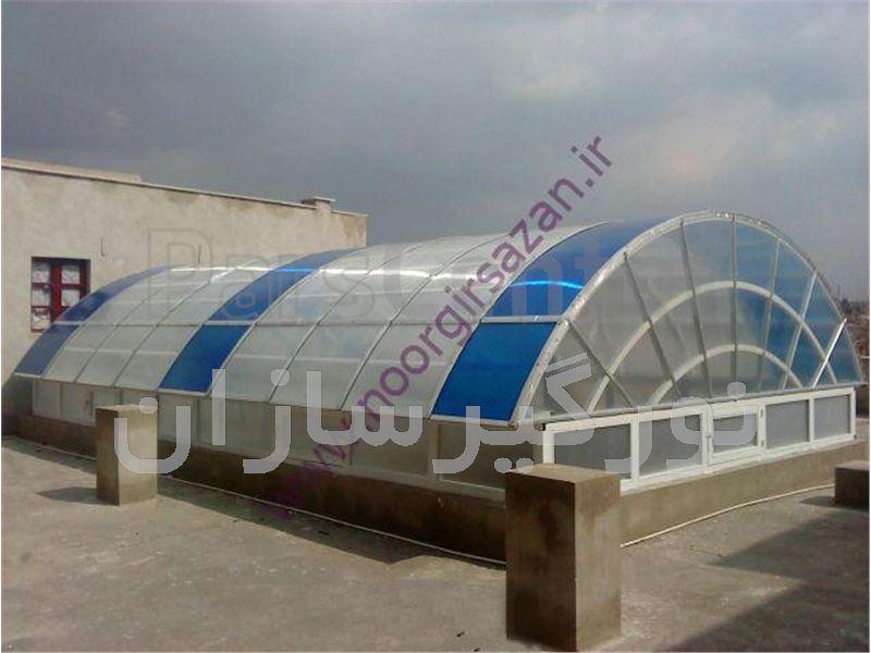 نورگیر تونلی با ورق پلی کربنات