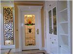 شیشه تزیینی تیفانی درب ورودی چوبی پروژه ولنجک ، کوچه نهم ، برج باغ سما
