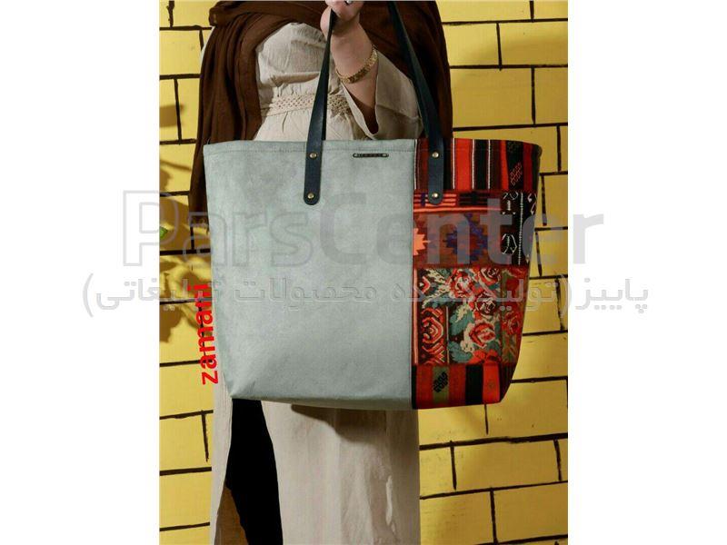 کیف زنانه سوئیت دوتکه طرح دار کد 218