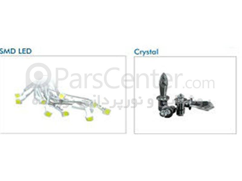 فیبرنوری با کریستال smd , led و منبع فیبر نوری,مینی دات