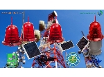چراغ دکل خورشیدی CL440-55,چراغ دکل سولار, جراغ دکل خورشیدی آسیا سولار