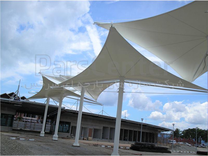 سازه های پارچه ای-چادری-بادی-چتر های متحرک وهوشمند-سایبان متحرک