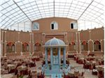 سیستم پوشش  سقف ثابت رستوران سنتی هتل سه ستاره عماد نظام شهر فردوس ابعاد 21 متر در 20 متر modeli Fixed all