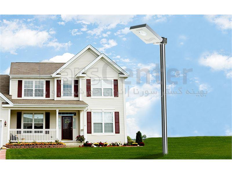 چراغ روشنایی هوشمند پارکی (خیابانی) خورشیدی 15 وات مجهز به سنسور