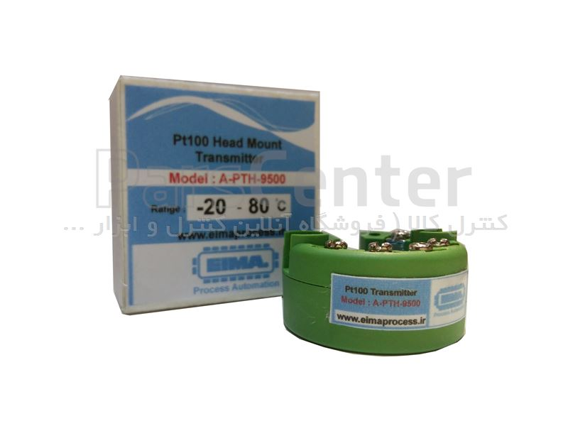 ترانسمیتر دما pt100 کنترل کالا مدل A-PTH-9500