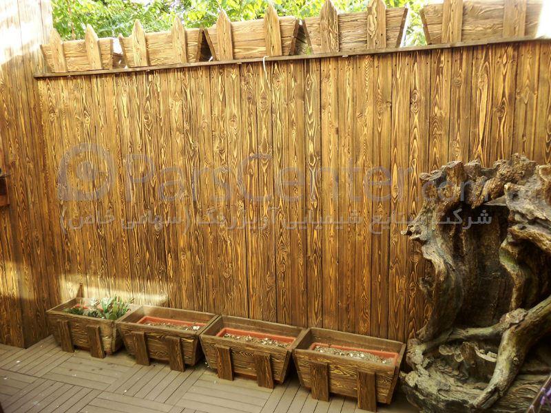 دیوار و فلاور باکس چوبی ، تهران ، سعادت آباد