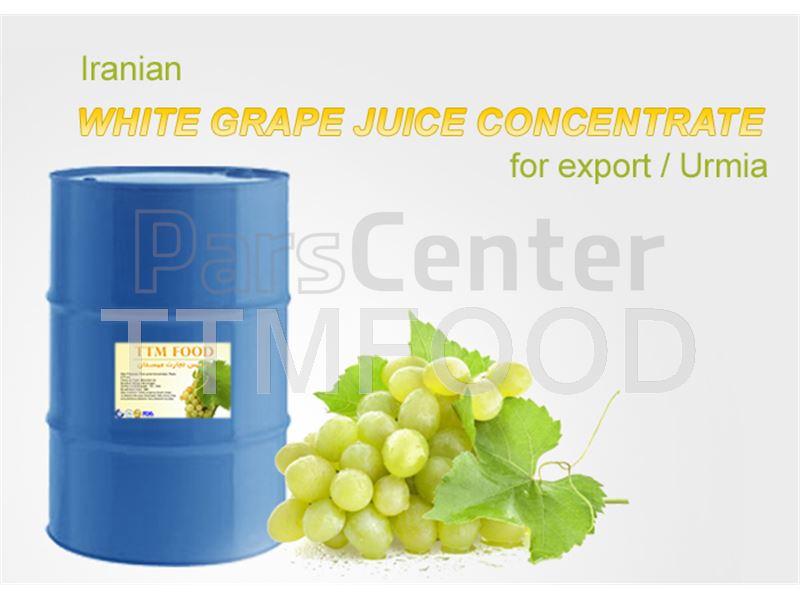 کنسانتره انگور سفید بسته بندی شده در بشکه های 265 کیلوگرمی