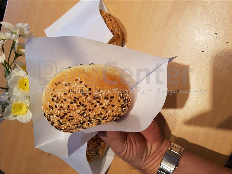 پاکت جدید دو طرف باز مخصوص همبرگر- بستنی- دونات