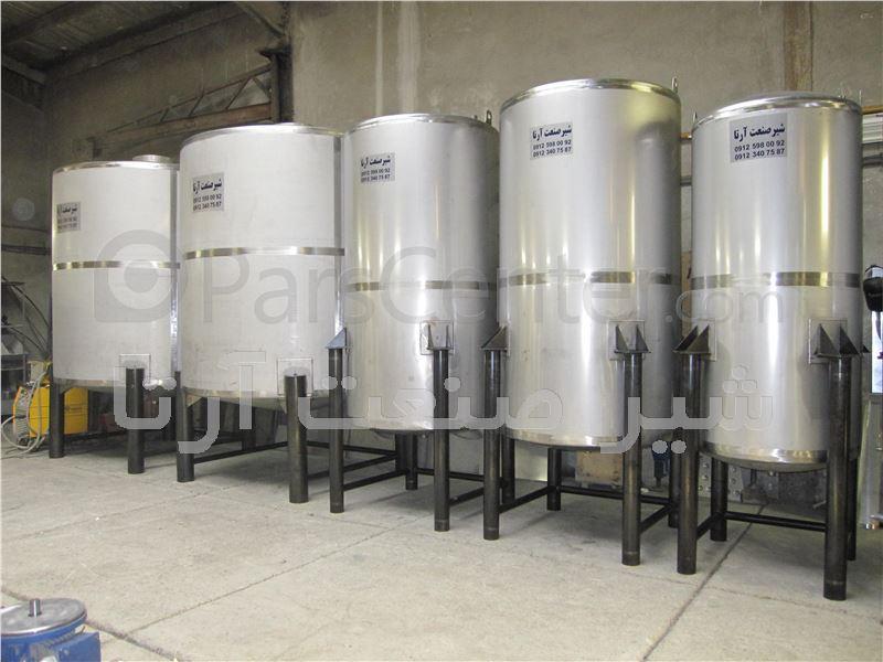مخازن استیل مواد شیمیایی l