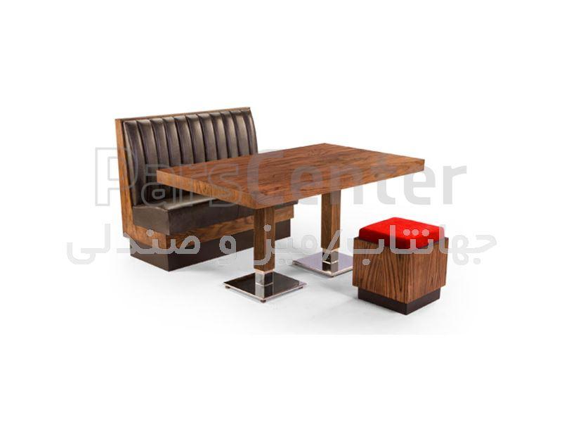 میز چوبی رستوران مدل 1037SD (جهانتاب)