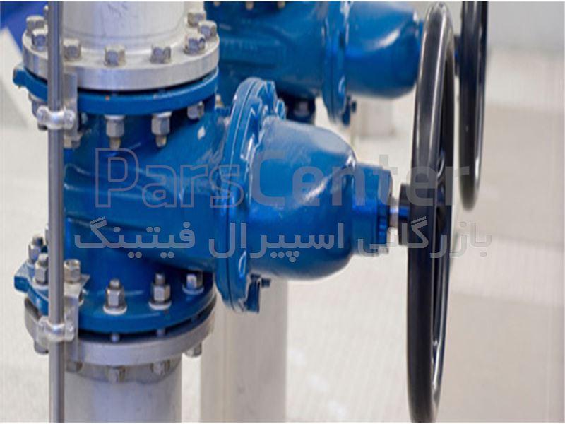 شیر فلکه چدنی فاراب رینگ استیل 6 اینچ (PN16)- بازرگانی اسپیرال فیتینگ
