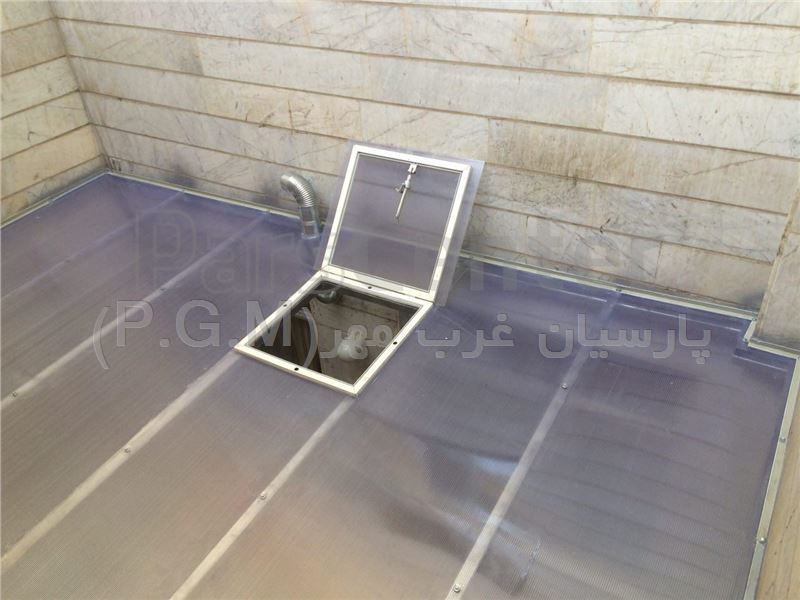 اجرای سقف پلی کربنات حیاط خلوت (فردوس شرق-رامین جنوبی)
