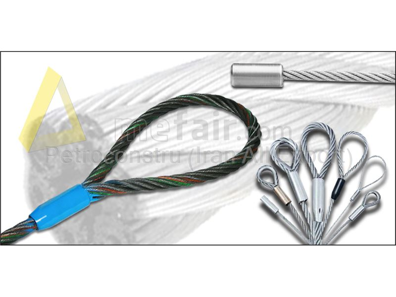Double pressed wire rope sling