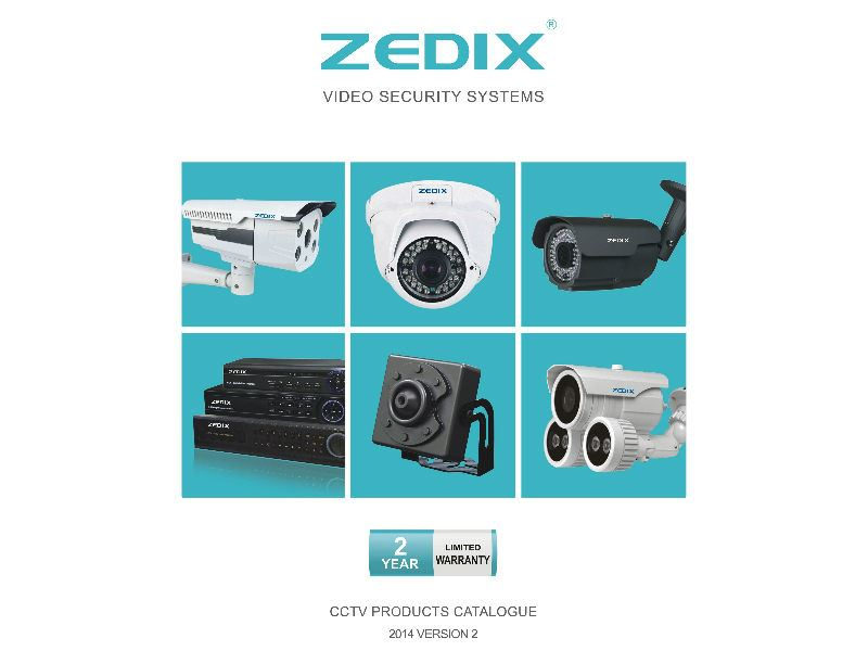 پارس اسپادانا نماینده انحصاری دوربین مداربسته ZEDIX ، دستگاه DVR ، لوازم جانبی دوربین مداربسته