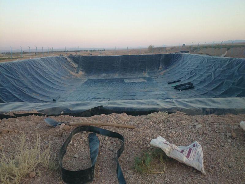ساخت استخر ذخیره آب کشاورزی - خراسان جنوبی