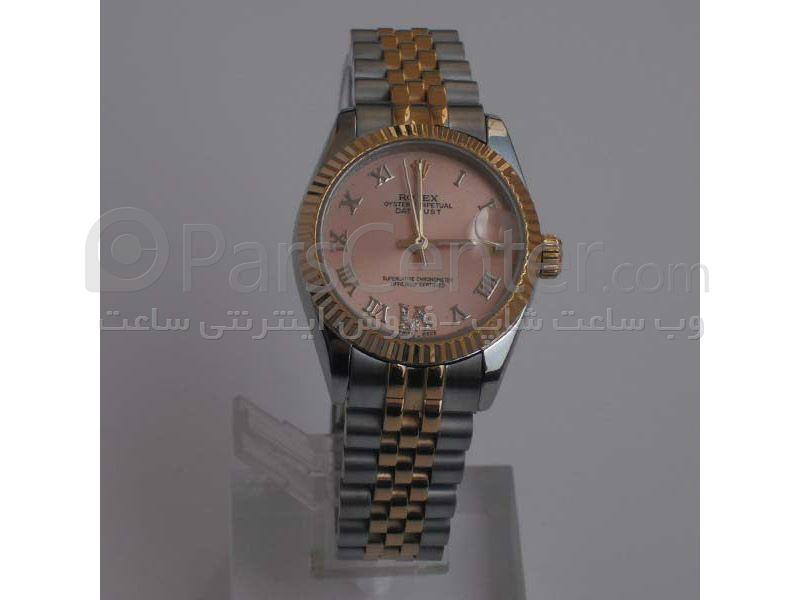 ساعت رولکس high copy مدل  DATEJUST- شیشه ضد خش -بند استیل - صفحه طلایی