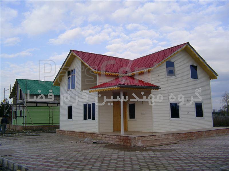 خانه های پیش ساخته ویلایی با نمای سایدینگ