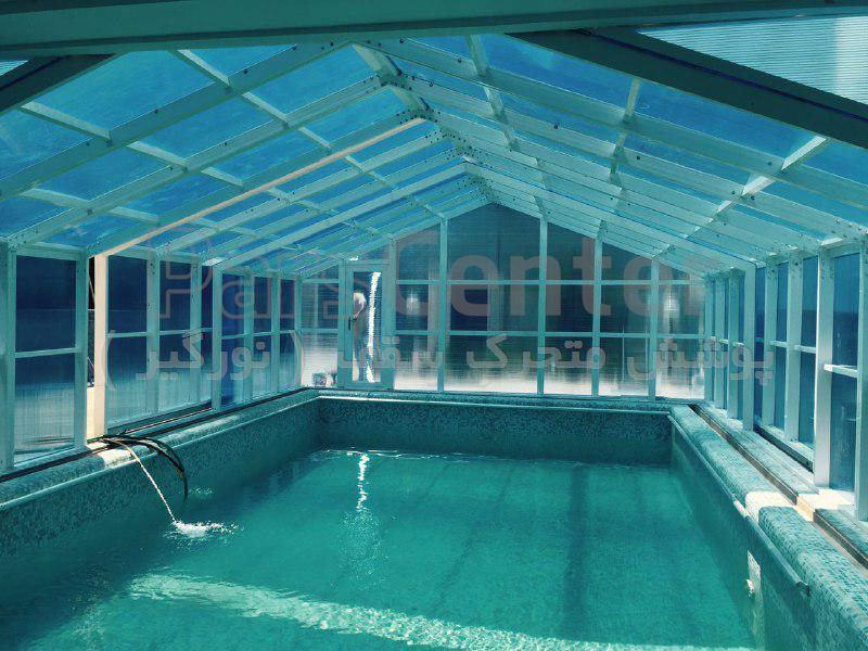 پوشش سقف استخر متحرک کد PMS E05