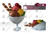 ماکت بستنی لیوانی 3 اسکوپی دیواری