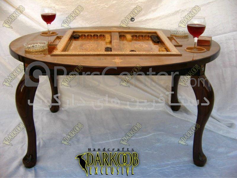 میز جلو مبلی تخته نرد معرق