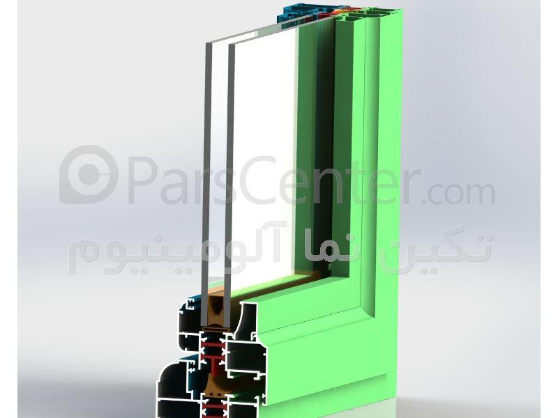 پنجره ترمال بریک آلومینیومی لولایی