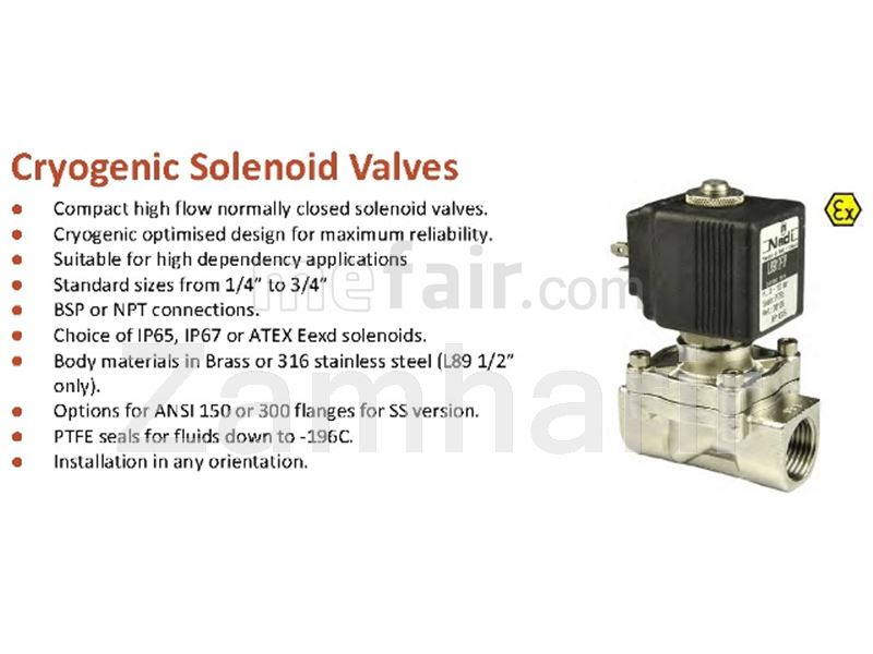 Cryogenic pile line, cryogenic valve