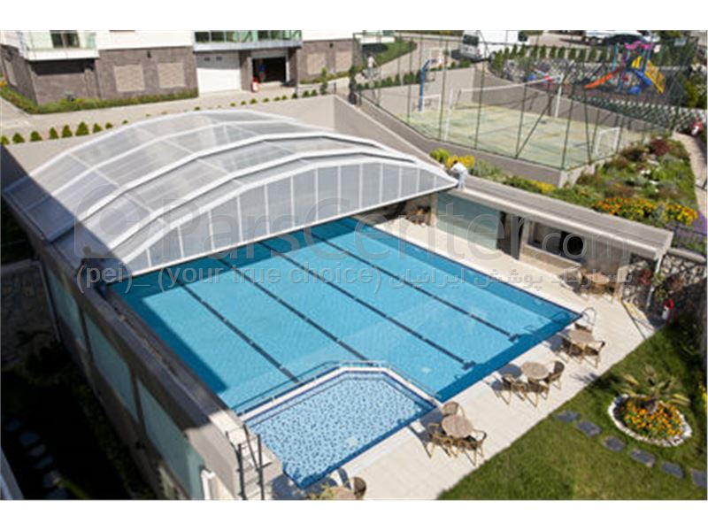 convenience of a fixed pool building - پوشش استخر شنای عمومی