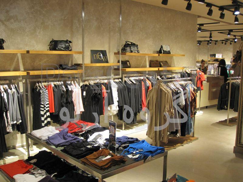 قفسه پوشاک،رگال لباس-قفسه بندی بوتیک 8