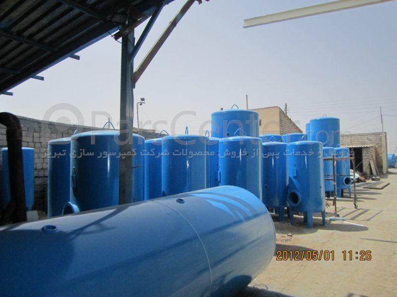 مخزن هوای فشرده - به قیمت تولید و مناسب و گارانتی