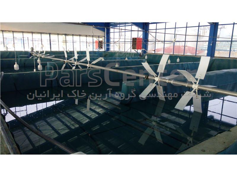 ایزولاسیون استخر پرورش ماهی (پروژه اصفهان)