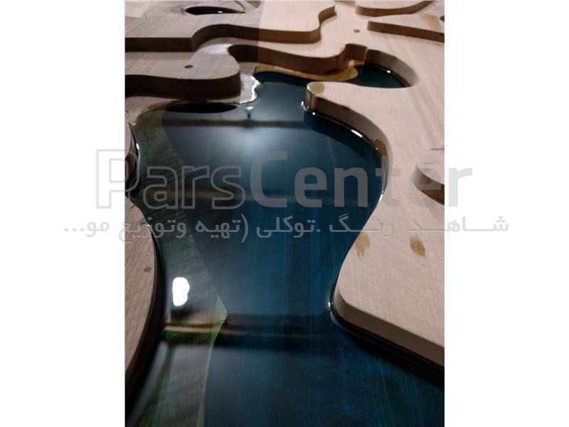 لاک شفاف اپوکسی روان مانند آب ،برای ساخت میزهای چوبی