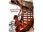 پله چوبی،پله گرد چوبی