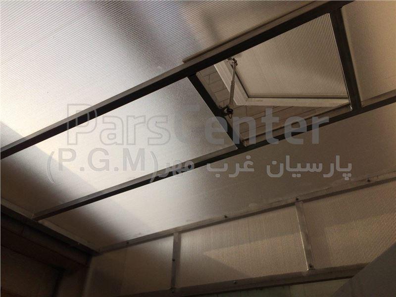 اجرای سقف پلی کربنات حیاط خلوت ( بلوار تعاون)
