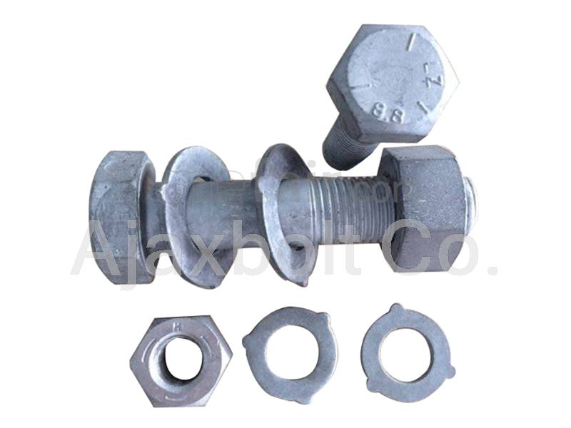 Galvanized plated industrial bolts and nuts