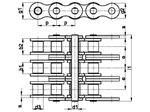 زنجیر غلتکی سه ردیفه سری A امریکایی   SIRCATENE Triplex Roller Chain DIN 8188 American