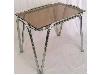 میز عسلی فلزی با شیشه