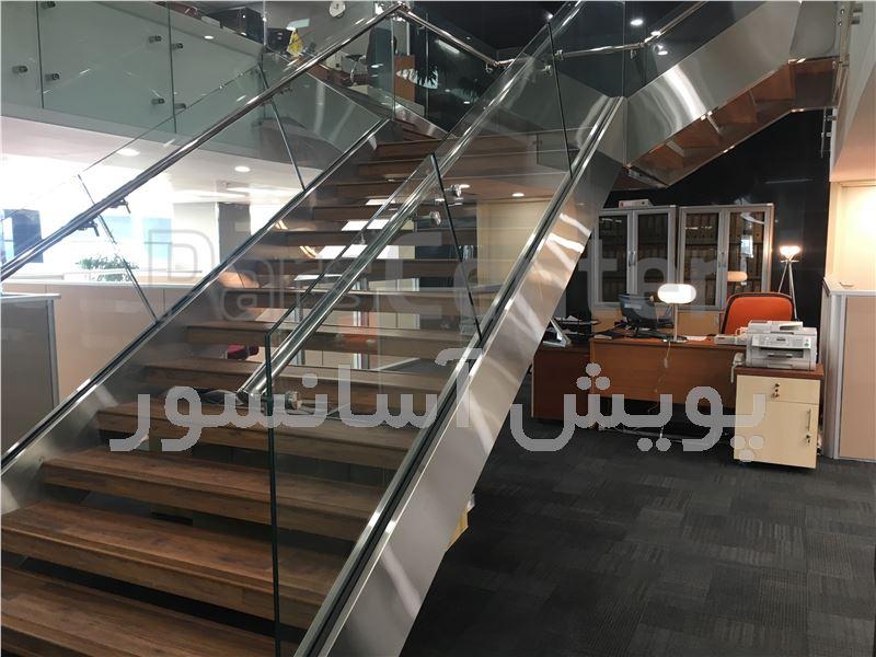 استیل کاری پله برقی ( شعبه مرکزی بانک پارسیان )