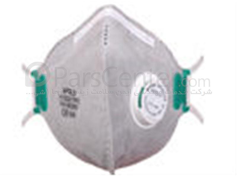 ماسک تنفسی ایمنی سوپاپ دار سفید و کربن فعال 3MAX FFP2