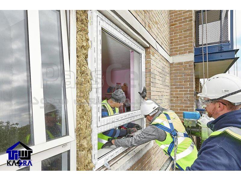 پاکسازی پوسته های کاور بجامانده وفرسوده کامپوزیت ویا فریم پنجره های دوجداره