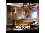 طراحی و اجرای دکوراسیون داخلی چوبی ( آشپزخانه میز کانتر صندلی کابینت اجرا شده در منطقه دروس تهران)