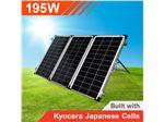 پنل (سلول) خورشیدی195وات قابل حمل (تاشو)  با کنترل شارژر