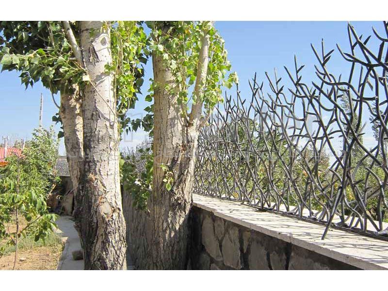 نرده شاخ گوزنی قهوه ای مسی مدل 75*50