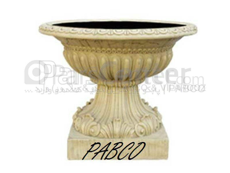 گلدان فایبرگلاس رومی کوتاه