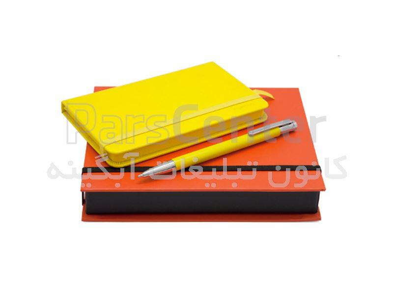 خودکار نفیس و دفترچه یادداشت با جعبه نفیس